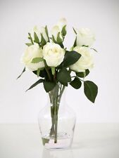 Artificial Flower Arrangement in carafe Artificial Silk Roses Ivory