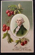 Antique President George Washington Postcard unused made in Germany
