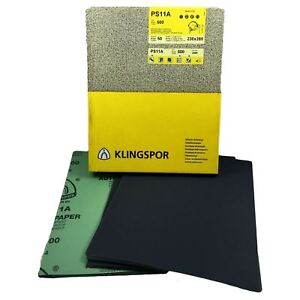 Klingspor Wet & Dry Sandpaper 60-2000 Grit Abrasive Sanding Sheets Waterproof