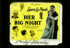 HER BIG NIGHT Rare 1926 UNIVERSAL Silent Film Movie Glass Slide LAURA LA PLANTE