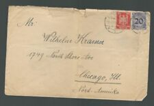 A-1230**GERMANY 1923 INFLATION COVER T0 CHICAGO, ILL
