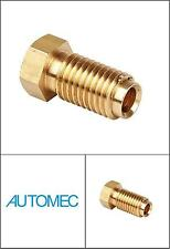 """AUTOMEC Brake Pipe Brass Union Fittings Male 3/8"""" BSF x 20tpi for 3/16 Pipe"""