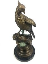 Antique Cold Painted Bronze Figurine / Game Bird / After Alfred Dubucand French