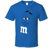 Blue M&m Big Face Funny Halloween Costume T Shirt