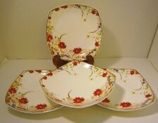"""Royal Bone China Dinnerware """"DREAMS OF PARIS"""" from Tangshan Longda 4 Plates"""