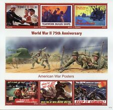 More details for guyana stamps 2017 mnh wwii ww2 75th anniv american world war ii posters 6v m/s