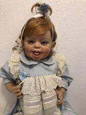 "25"" FayZah Spanos 1994 Signed 340/1500 Happy Baby Vinyl Doll Precious Heirloom"