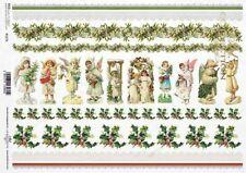 Reispapier-Motiv Strohseide-Decoupage-Vintage-Weihnachten-Nikolaus-Santa-R1298