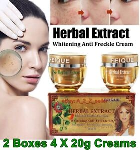 2 X Set Day & Night Cream Herbal Extract Face skin Whitening Anti-freckle Spots