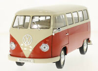 VW T1 Bus in Orange and White (1:18 scale by Welly 18054or)
