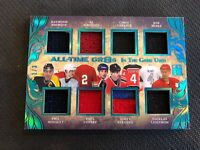 2013-14 ITG LEAF ALL-TIME GR8S BOURQUE/LIDSTROM/COFFEY++ JERSEYS AT8-01 #ed /3