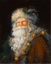 Santa Claus,Hand-painted Portrait Art Oil painting Wall Decor Canvas 24x32IN #02