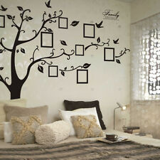 Large Family Tree Photo Frame Wall Sticker Living Room Decor Vinyl Mural Decals