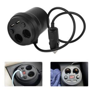 2 Socket Cigarette Lighter Dual USB Charger Car Power Charger Voltage Display se