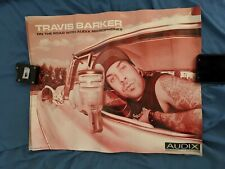 Travis Barker Audix Microphones promo poster blink 182 Cadillac 20x16