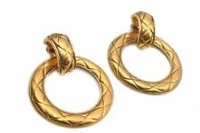 Authentic CHANEL Clip-On Earrings Gold CC 84713