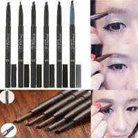 Hot Waterproof Eye Brow Eyeliner Eyebrow Pen Pencil + Brush Makeup Cosmetic