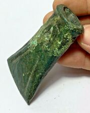 BRONZE AGE EUROPEAN BRONZE SOCKETED DECORATED AXE HEAD 2000-1500BCE 93mm