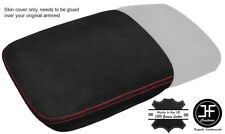 RED STITCH FRONT SECTION ARMREST LID REAL SUEDE COVER FITS AUDI Q7 2015-2018