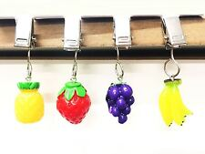 4 Multicolour Fruit Charms Table Cloth Clip Weight Garden BBQ Picnic Party Decor