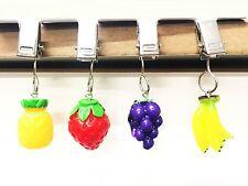 4 Multicolour Fruit Charms Table Cloth Clip Weight Garden BBQ Picnic Party Decor