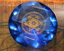 Tachyonen Diamant Metatron blau 45 Energie Heilige Geometrie Michael 6. Chakra