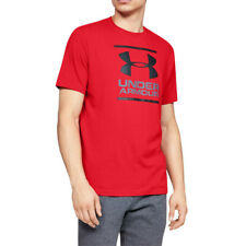 Under Armour Mens GL Foundation T Shirt Tee Top Red Sports Running Gym