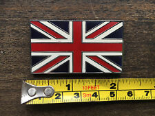 Union Jack Metal Enamel Badge Emblem Classic Car Self Adhesive Sticky 50mm x 29m
