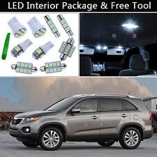 8PCS Bulbs White LED Interior Lights Package kit Fit 2011-2013 Kia Sorento J1