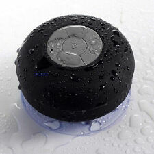HOT WATERPROOF BLUETOOTH SPEAKERS HANDSFREE MIC SUCTION BATHROOM SHOWER WIRELESS