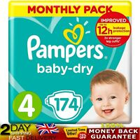 Pampers Baby Dry Size 4 174 Nappies For Breathable Dryness 9 14 Kg Air Channels