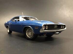 1970 Dodge Challenger R/T BLUE/BLACK ACME / Danbury Mint Highway 61  1/24
