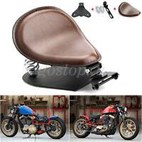 "UK Brown Motorcycle Solo Seat 3"" Spring Bracket For Harley Chopper Bobber Honda"