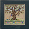 MILL HILL Counted Cross Stitch Beads Kit MIGHTY OAK TREE QUARTET Spring