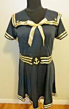 Women's Classic Sailor Uniform Cosplay Halloween Costume Fancy Dress Size L