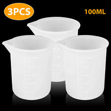 6/3PCS Transparent 100ML Silicone Resin Measuring Cup Mould DIY Jewelry Making