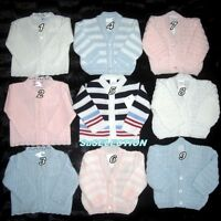 BABY BOY GIRL CARDIGAN 0/12 MONTHS- BEAUTIFUL COLOURS IN VARIOUS DESIGNS - NEW