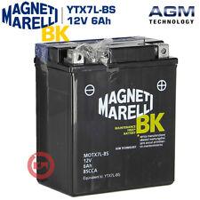 Magneti Marelli MOTX7L- BS 6Ah Batteria per Moto - Nera