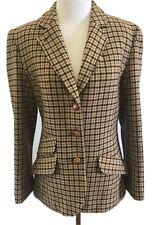 Vintage Pendleton Knockabouts Tweed Houndstooth Blazer Womans Size Medium
