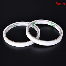 2Pc White New Double Sided Super Strong Adhesive Tape Sticker Stationery Roll�€AU