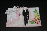Stanzschablone Liebespaar Anzug Hochzeit Weihnachten Geburtstag Album Karte Deko