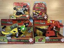 Lot Of 4 DinoTrux | Ty Rux, Revvit Zoutil, Small Ty Rux, Small D-Structs | New!!