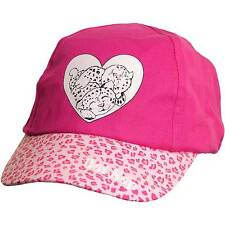 Baby Younger Girls Cute Leopard Novelty Summer Sun Hat Baseball Cap Pink White