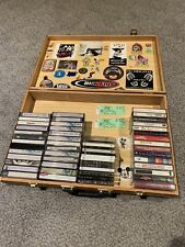 Mix Cassette Tapes Punk Ska Metal Lot of 50+ Rare Stickers Case Ministry NOFX +