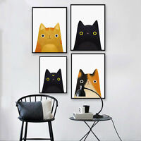 Funny Cats Animal Canvas Poster Wall Art Nursery Picture Baby Room Decoration