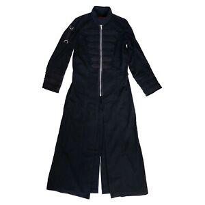 Tripp NYC Gothic Horror Goth Matrix Black Trench Coat Jacket Mens Size XXL 2XL