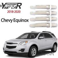 Door Handle Cover For Chevy Equinox 2018-2021 GMC Terrain Chrome W/4 Smart holes