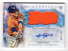YULIESKI GURRIEL MLB 2017 TOPPS INCEPTION AUTOGRAPH PATCHES /149 (HOUSTON ASTROS