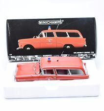 """Minichamps Opel Rekord P1 Caravan """" Feuerwehr """" Bj.1958, 1:18, OVP, K021"""