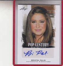 """2012 LEAF POP CENTURY BRISTOL PALIN """"D.W.T.S./SARAH'S DAUGHTER"""" AUTOGRAPH AUT"""